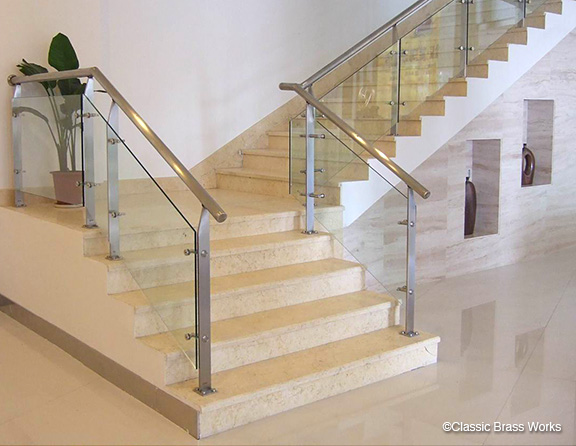 Merveilleux Swirl Staircase Railings, Car Graphics. Brushed Metal Stairway Railing