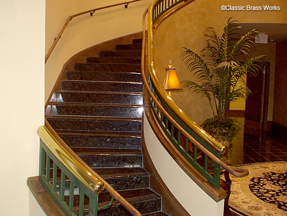 Delicieux Van Graphics. Brass Tube Stairway Railings ...