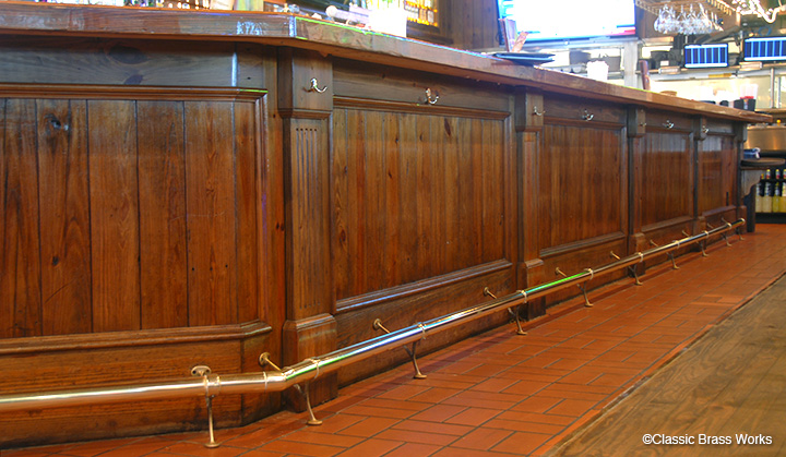Bar Foot Rail With Combination Brackets Polished Br More Views